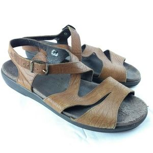 Mephisto Womens sz 12 Brown Strappy Sandal 183-8